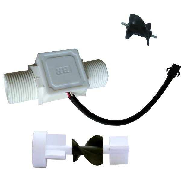 helical rotor liquid flow sensor